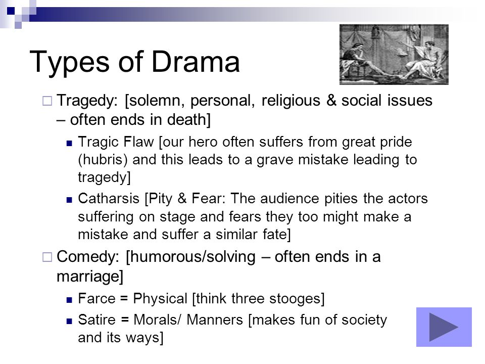 Types of Comedy for Drama Class